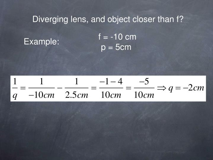 Diverging lens, and object closer than f?