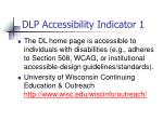dlp accessibility indicator 1
