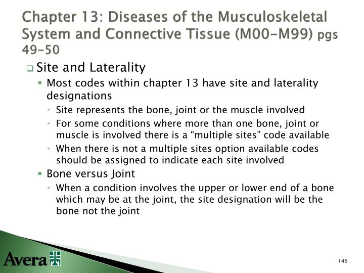 Chapter 13: Diseases of the Musculoskeletal System and Connective Tissue (M00-M99)