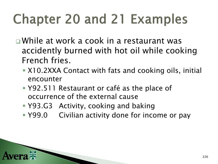 Chapter 20 and 21 Examples