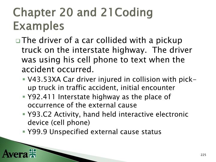 Chapter 20 and 21Coding Examples
