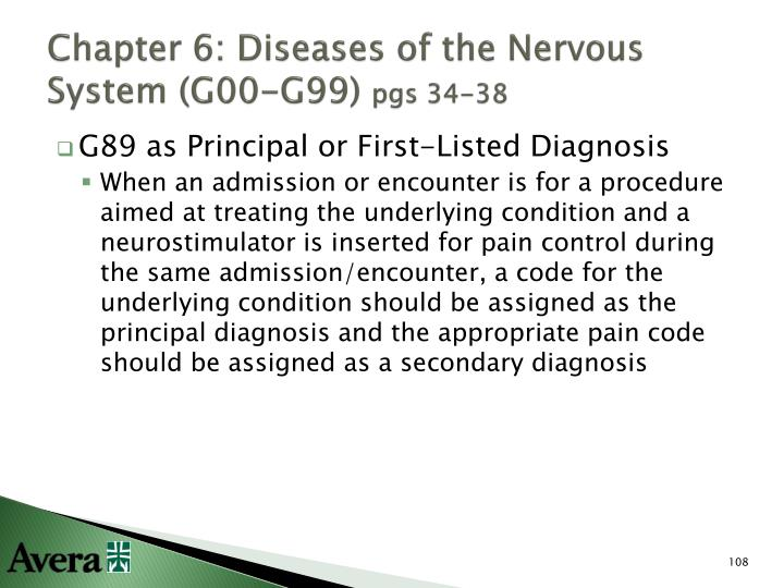 Chapter 6: Diseases of the Nervous System (G00-G99)