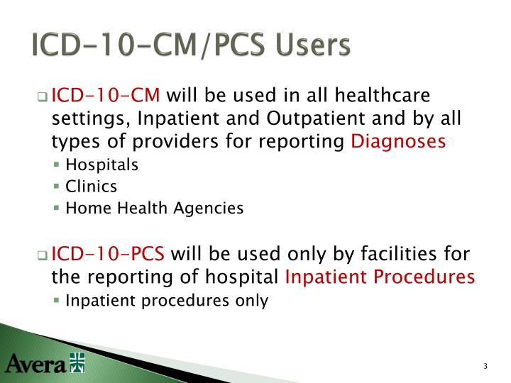 Icd 10 cm pcs users