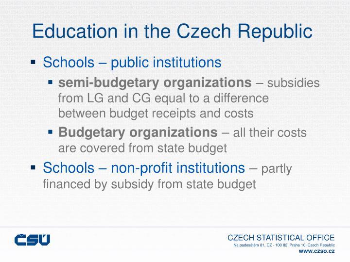 Education in the czech republic