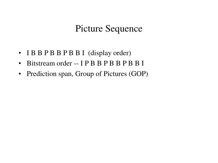 Picture Sequence