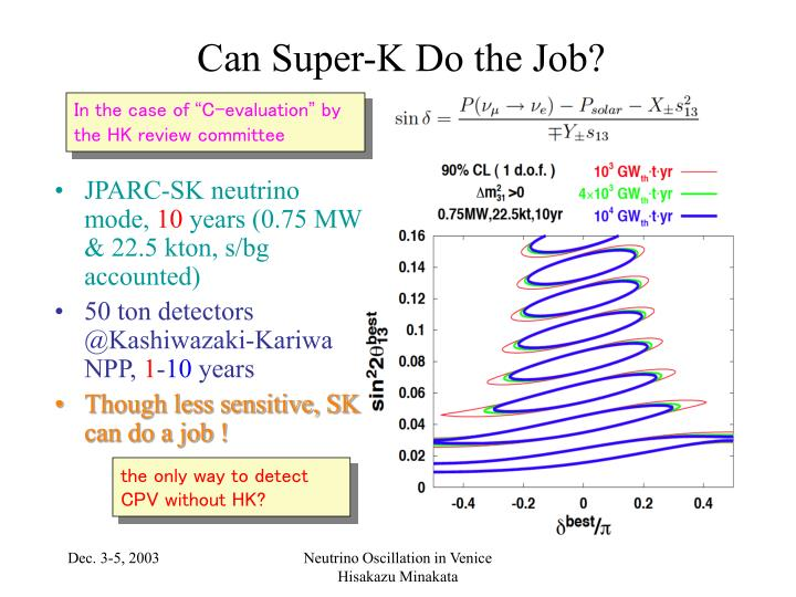 Can Super-K Do the Job?