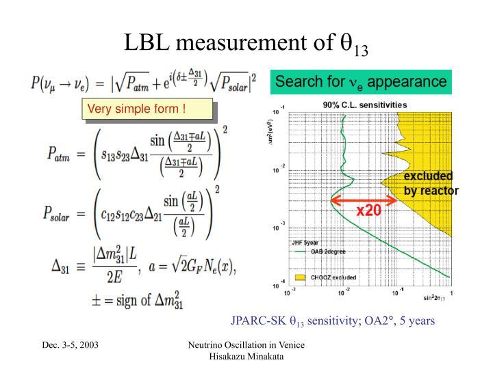 LBL measurement of