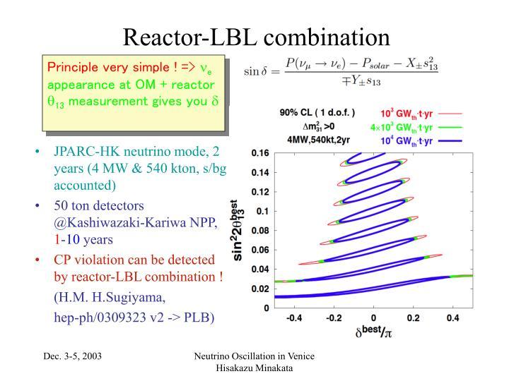 Reactor-LBL combination