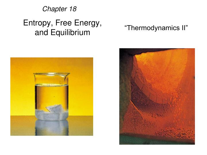 entropy free energy and equilibrium n.