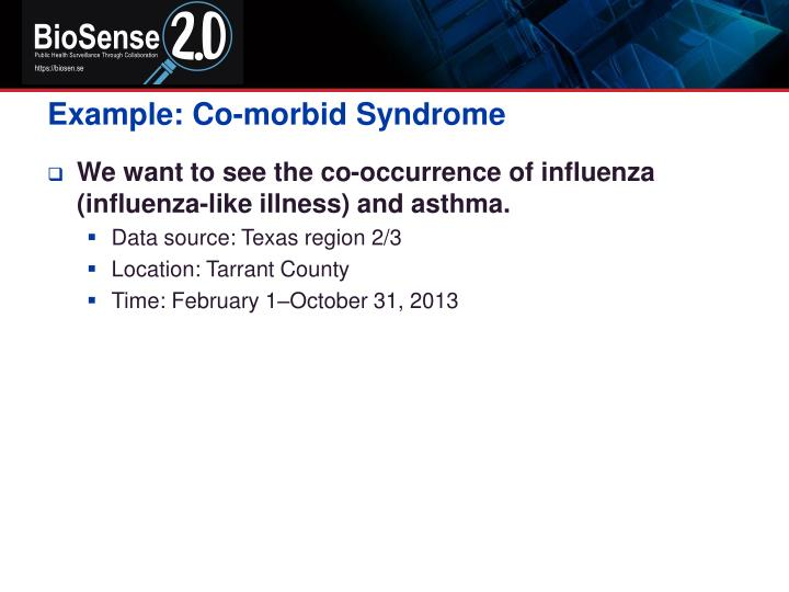 Example: Co-morbid Syndrome