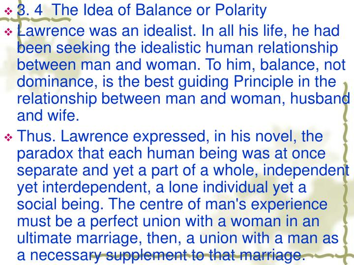 3. 4  The Idea of Balance or Polarity