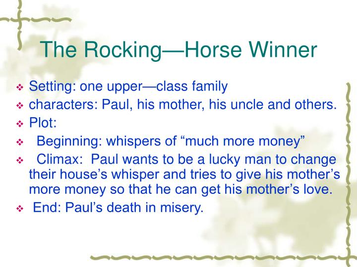 The Rocking—Horse Winner