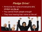 pledge drive1