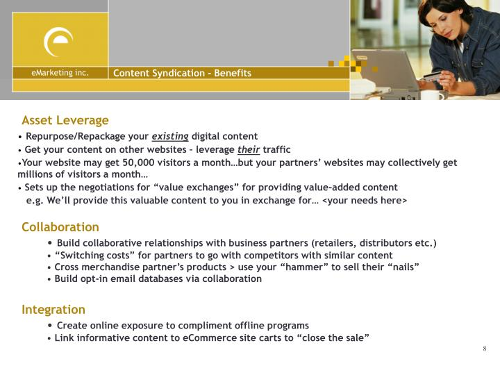 Content Syndication - Benefits