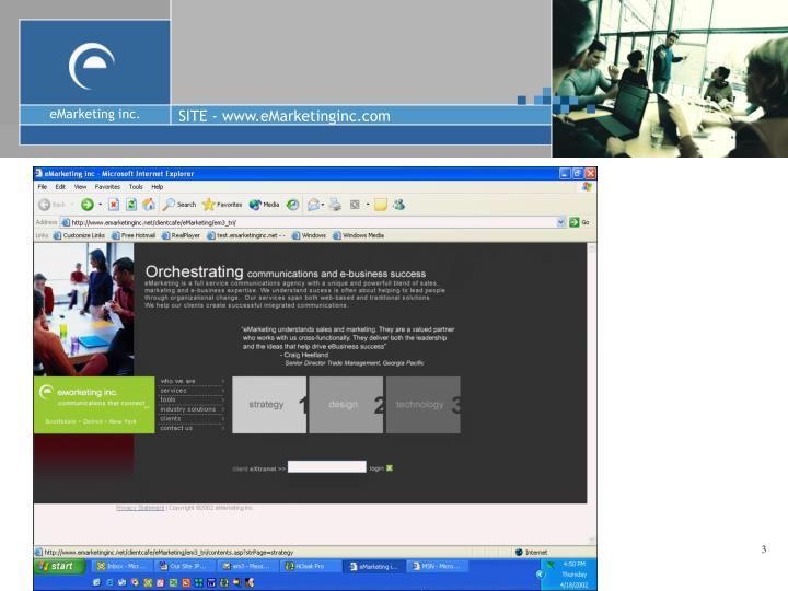 Site www emarketinginc com