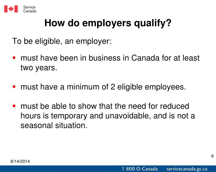 How do employers qualify?