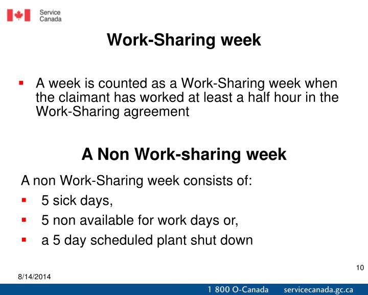 Work-Sharing week