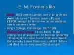 e m forster s life
