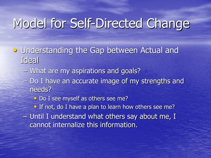Model for Self-Directed Change