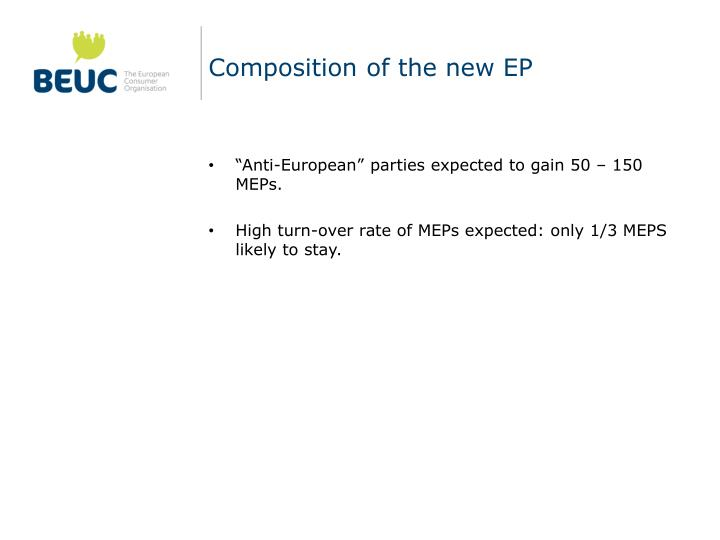 Composition of the new EP