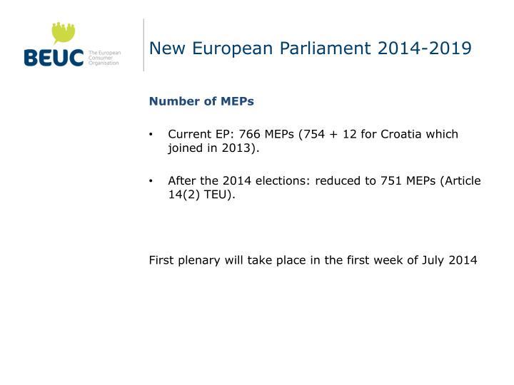 New European Parliament 2014-2019