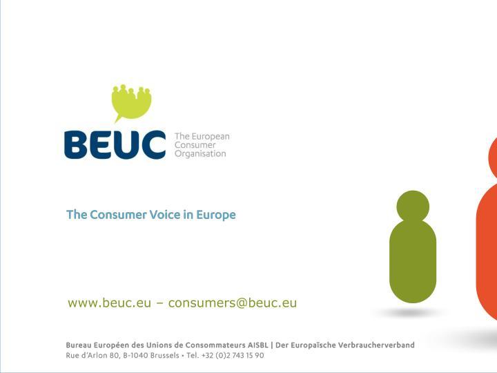 www.beuc.eu – consumers@beuc.eu