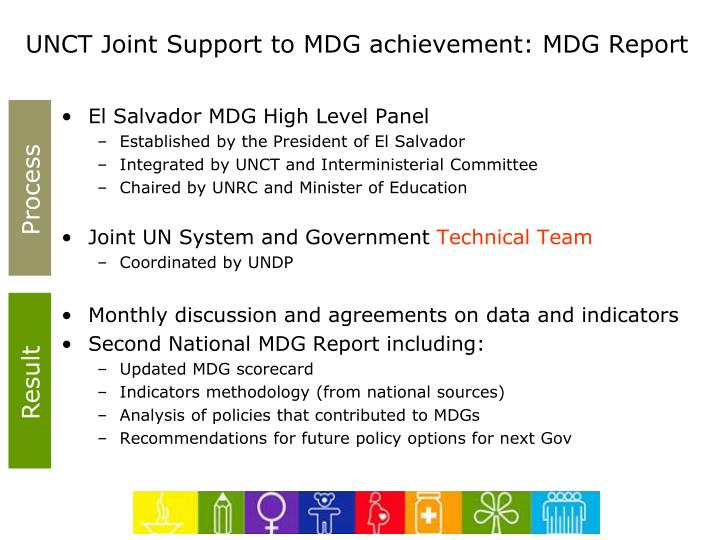 UNCT Joint Support to MDG achievement: MDG Report