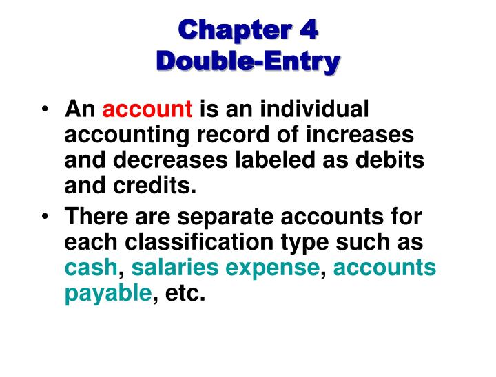 are classifications of accounting outmoded