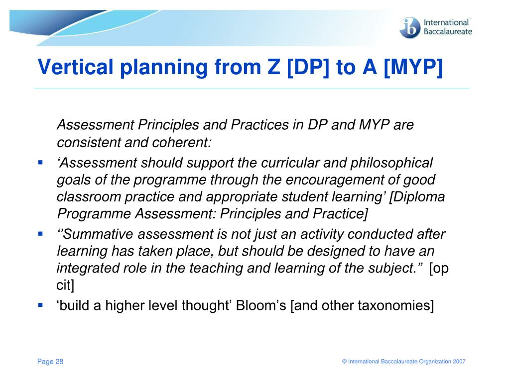 PPT - DP/MYP Curriculum Planning: from Z to A Amsterdam Conference