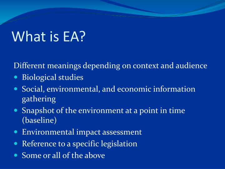 What is ea