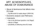 art 82 monopolies abuse of domoinance