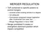 merger regulation