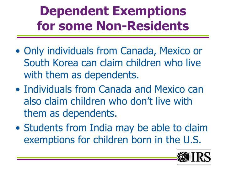Dependent Exemptions