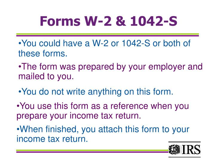 Forms W-2 & 1042-S