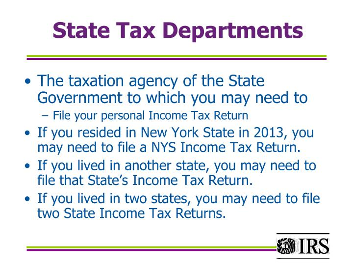 State Tax Departments