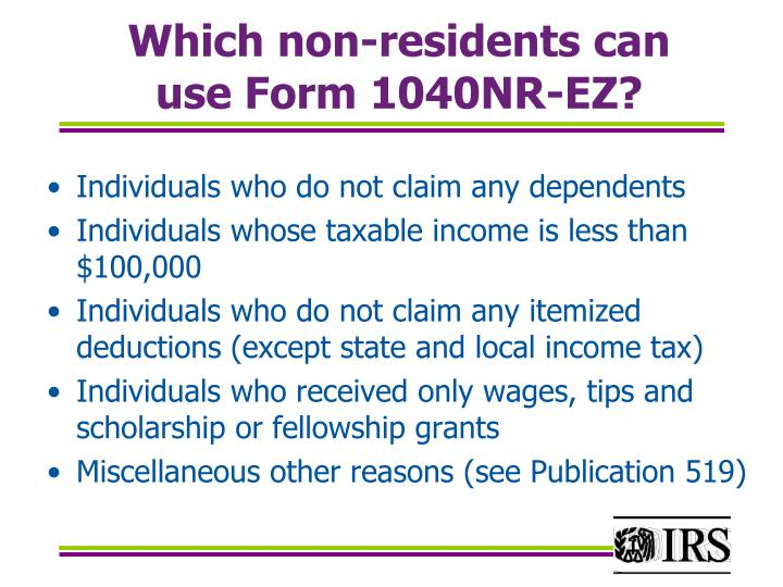Which non-residents can