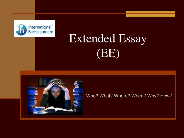 science extended essay guide Science extended essay welcome to the science extended essay wiki in this section you will find some general guidelines, sample essays and.