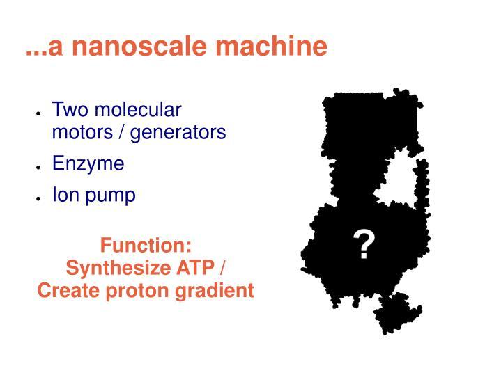 A nanoscale machine