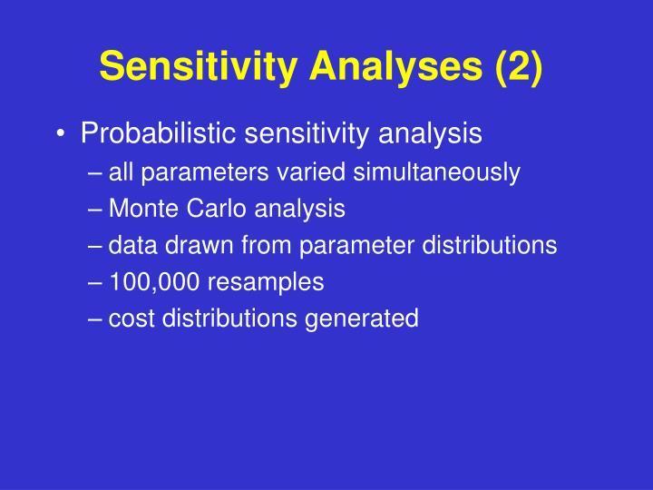 Sensitivity Analyses (2)