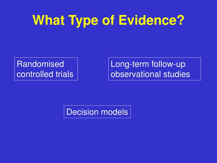 What Type of Evidence?