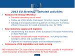 2013 eu strategy s elected activities