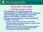 future role of the adb in ei governance cont