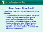 tunis round table cont