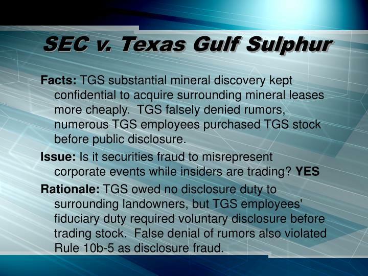 sec v texas gulf sulphur