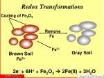 redox transformations