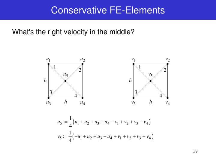 Conservative FE-Elements