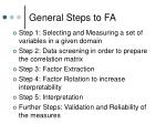 general steps to fa