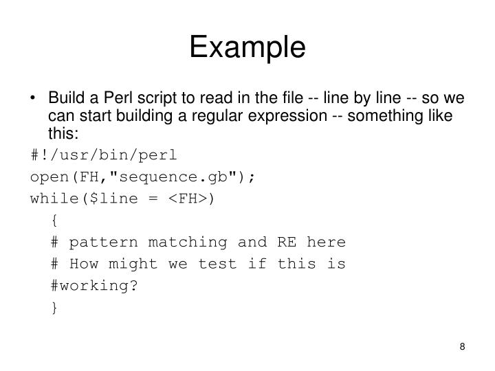Ppt perl and substitution operator s powerpoint for Perl script template