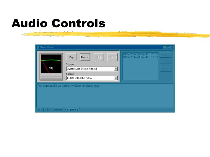 Audio Controls