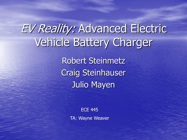 ev reality advanced electric vehicle battery charger n.